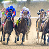 Drosselmeyer (far outside), Mike Smith up, wins the 2010 Belmont Stakes, Belmont Race Track, Elmont, NY, 6/5/10, <br /> Photo by: Mathea Kelley