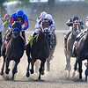 Drosselmeyer (far outside), Mike Smith up, wins the 2010 Belmont Stakes, Belmont Race Track, Elmont, NY, 6/5/10, Mathea Kelley