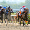 Drosselmeyer ridden by jockey Mike Smith wins the 142nd running of The Belmont Stakes at Belmont Park in Elmont, New York June 4, 2010.  <br /> Photo by: Skip Dickstein