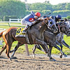 Summer Bird runs past Mine That Bird and Dunkirk in the stretch of the 2009 Belmont Stakes<br /> Dave W. Harmon