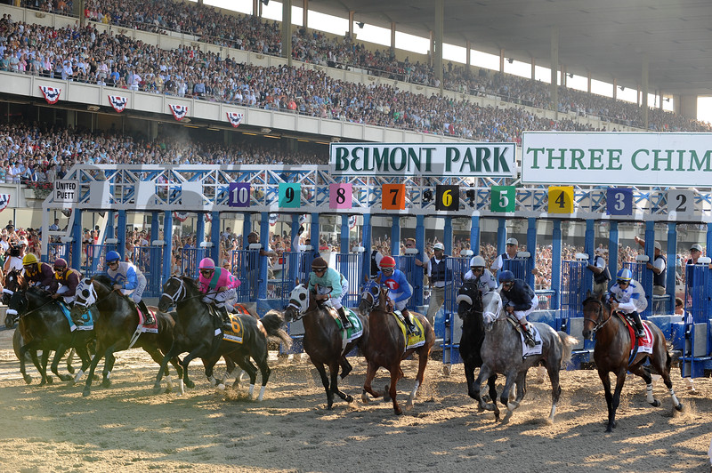 The Start of the 2009 Belmont Stakes<br /> Coglianese Photos