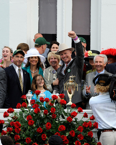 PRES, l-r, Mr. and Mrs. Kenny Troutt, Mr. and Mrs. (Susan) Casner, Governor Steve Beshear<br /> Super Saver with Calvin Borel wins the Kentucky Derby (gr. I)<br /> Derby day at Churchill Downs near Louisville, Ky. on May 1, 2010.<br /> Photo by Anne M. Eberhardt