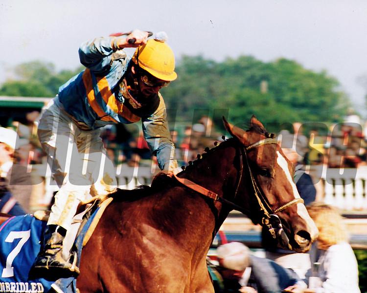 Unbridled wins the 1990 Kentucky Derby<br /> Skip Dickstein Photo