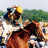 Unbridled wins the 1990 Kentucky Derby<br /> Skip Dickstein Photo