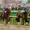 Smarty Jones wins the 130th running of the Kentucky Derby at Churchill Downs on Saturday, May 1, 2004.<br /> Photo by: Mike Corrado