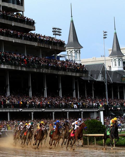 2010 Kentucky Derby 1st Turn w/Twin Spires