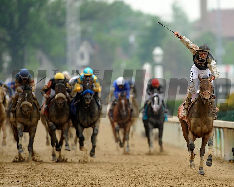 Calvin Borel Wins the 2009 Kentucky Derby on board Mine That Bird<br /> Mike Corrado Photo
