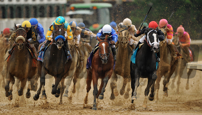 Kentucky Derby 135, Top of the Stretch<br /> Courtney V. Bearse
