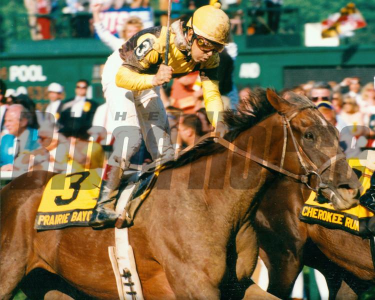 Prairie Bayou wins the 1993 Preakness Stakes at Pimlico<br /> Photo by: Skip Dickstein