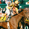 Prairie Bayou wins the 1993 Preakness Stakes at Pimlico<br /> Photo by: Skip Dickstein