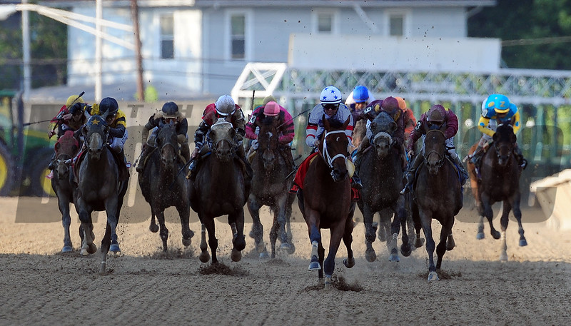 Big Brown wins the 2008 Preakness Stakes<br /> Jeffrey Snyder Photo