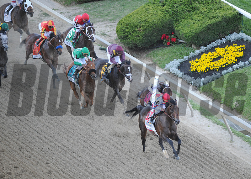 Lookin at Lucky; Martine Garcia up; wins the 2010 Preakness Stakes; Pmilico Race Track Baltimore MD Mathea Kelley 5/15/10
