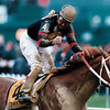 Red Bullet and Jerry Bailey win the 2000 Preakness Stakes<br /> Skip Dickstein Photo