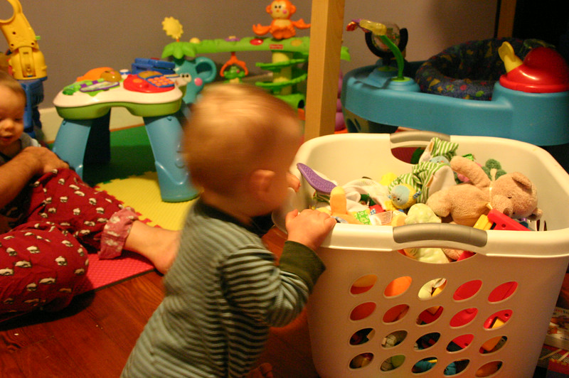 playing in the new playroom
