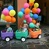 Balloons on the wagon