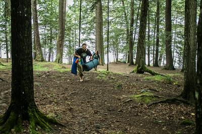 Tsavo and Devon make camp.