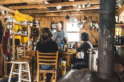 In Bill & Carlie's cabin.