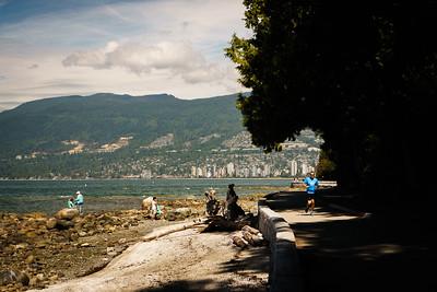 Vancouver seawall in Stanley Park
