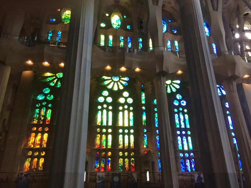 La Sagrada Famila:  Stained glass