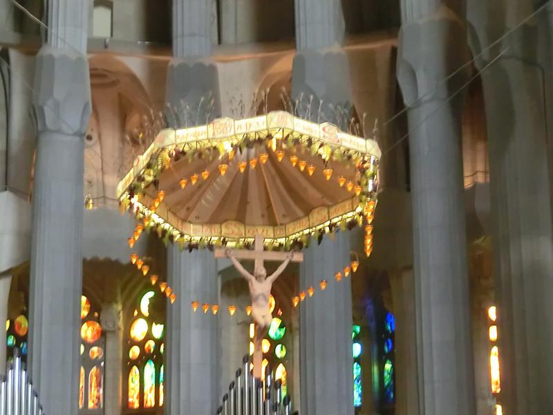 La Sagrada Familia:  Altar canopy