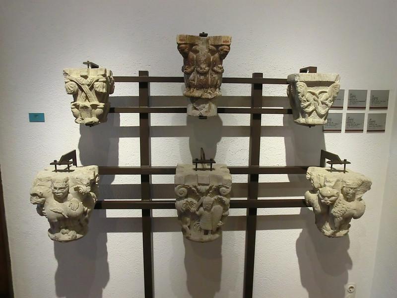 Wacky medieval capitals in art museum