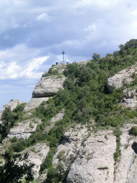 We're hiking to the cross
