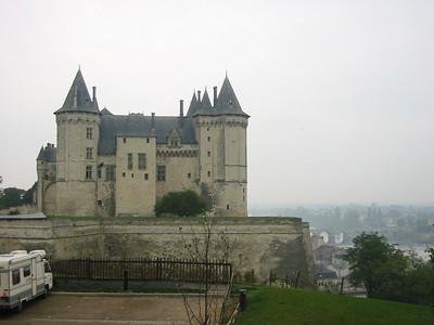 Saumur -- chateau over the Loire