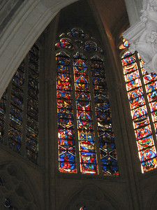 Tours cathedral -- stained glass