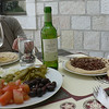 Jerusalem:  Lunch at our hotel, with Star of Bethlehem wine