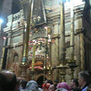 Jerusalem:  Church of the Holy Sepulcher; pilgirms lined up to see the place of the  Resurrection