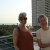 Carol and Linda on the balcony of our hotel in Tel Aviv, Hotel Shalom