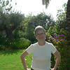 Linda in the garden of the beautiful home of MaryJo's friend in Herzlia, just outside of Tel Aviv