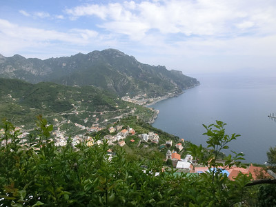 Ravello:  View from the street above Da Salvatore restaurant