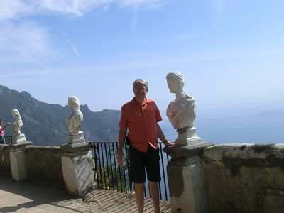 Ravello:  Ted on the Belvedere of Infinity, Villa Cimbrone