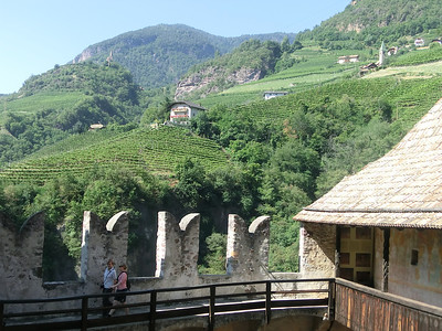 View of surrounding hills from Castello Roncallo