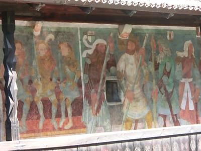 Frescoe of Nine Worthies, Castello Roncallo