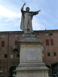 Local hero Girolamo Savonarola, who was born in Ferrara; the Florentines remember him differently