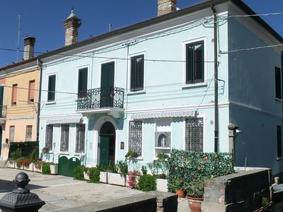 Comacchio:  Pretty pastel house