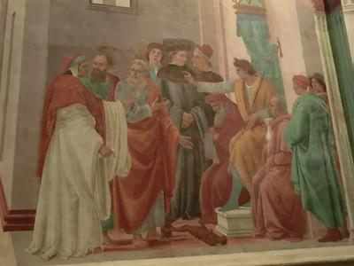 Santa Maria della Carmine, Brancacci Chapel, Disputation of St. Peter with Simon Magus, Filippino Lippi (15th C)