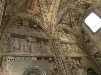 Santa Croce:  Baroncelli Chapel, frescoes by Taddeo Gaddi (14th C)