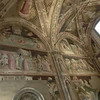 Santa Croce:  Baroncelli Chapel, frescoes by Taddeo Gaddi (14th C)