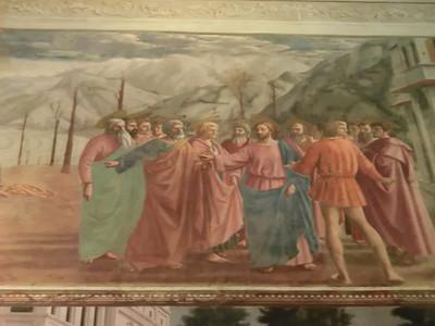 Santa Maria della Carmine, Brancacci Chapel, The Tribute Money, Masaccio (15th C)
