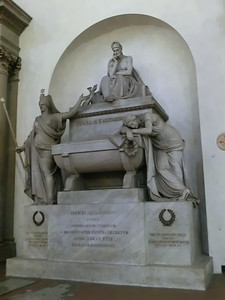 Santa Croce:  Dante's (fake) tomb; the real one is in Ravenna