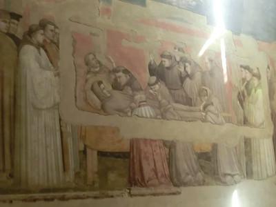 Santa Croce:  Bardi Chapel, Death of St. Francis, Giotto (14th C)