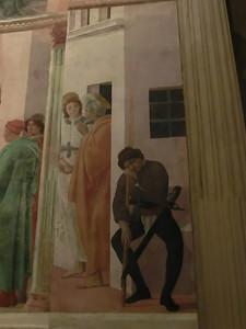 Santa Maria della Carmine, Brancacci Chapel, St. Peter Freed From Prison by an Angel, Filippino Lippi (15th C)