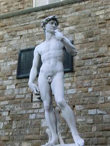 Piazza della Signoria:  Replica of Michelangelo's David