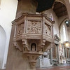 Santa Croce: Pulpit, Benedetto di Maiano (15th C); the pulpit has no obvious steps -- they are actually inside the column