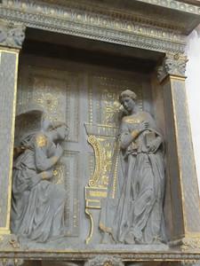 Santa Croce:  Annunciation, Donatello (15th C)