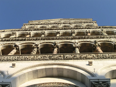 San Michele in Fore -- detail of facade