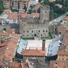 Marostica:  Another view of the live chessboard, with Castello Inferiore (lower Castle)